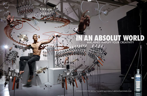 Absolut Vodka Print Advertisement 2