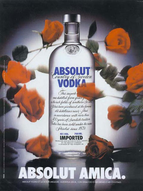 Absolut Vodka Print Advertisement 12