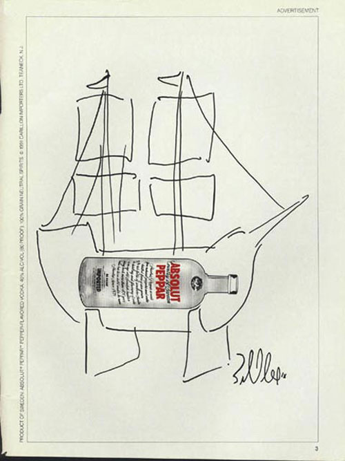 Absolut Vodka Print Advertisement 54