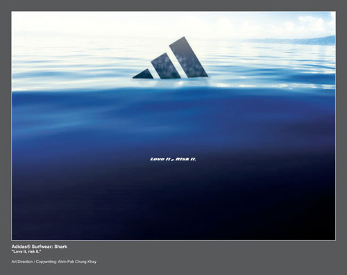 adidas print advertisement surfwear shark