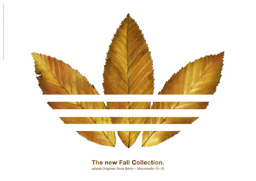 adidas print advertisement fall collection