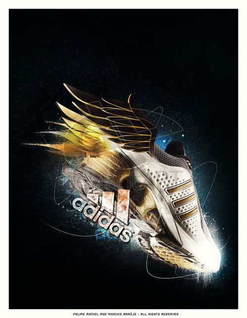 adidas print advertisement the one