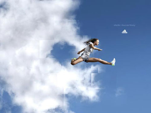 adidas print advertisement running