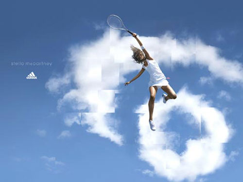 adidas print advertisement tennis