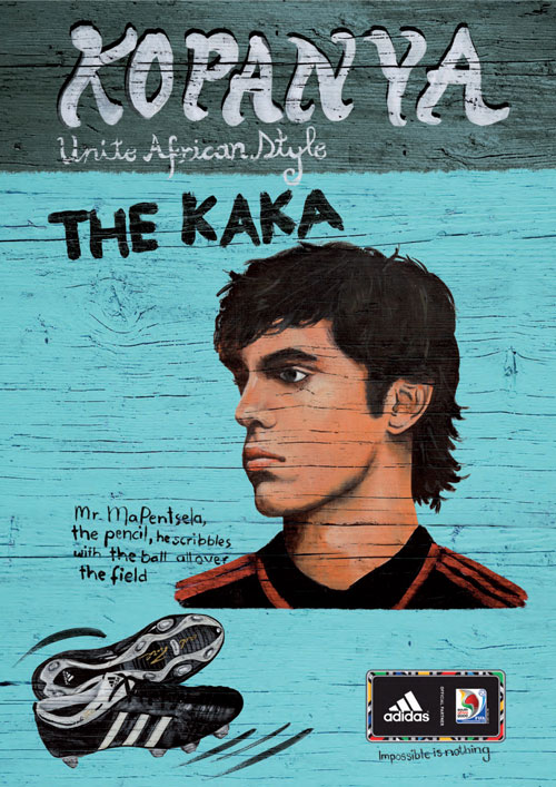 adidas print advertisement famous in africa kaka