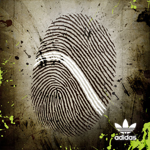 adidas print advertisement fingerprint