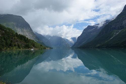Norway, lake Lovatnet