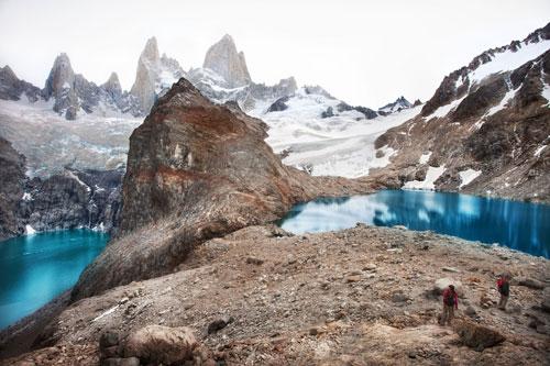 Argentina, Patagonia, Parque Nacional Los Glacieres, Lago de las Tres, Mt. Fitzroy