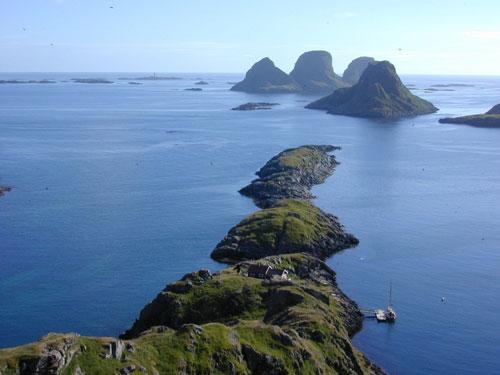 Storfjellet island, Rost, Norway