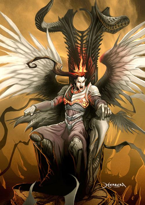 Angel king drawing illustration