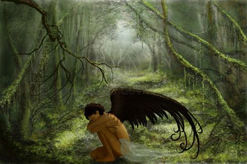 A Broken Angel drawing illustration