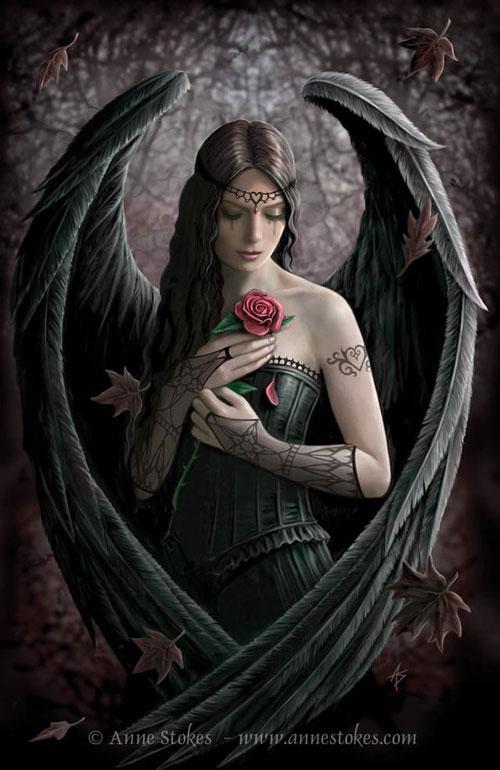 Angel Rose drawing illustration