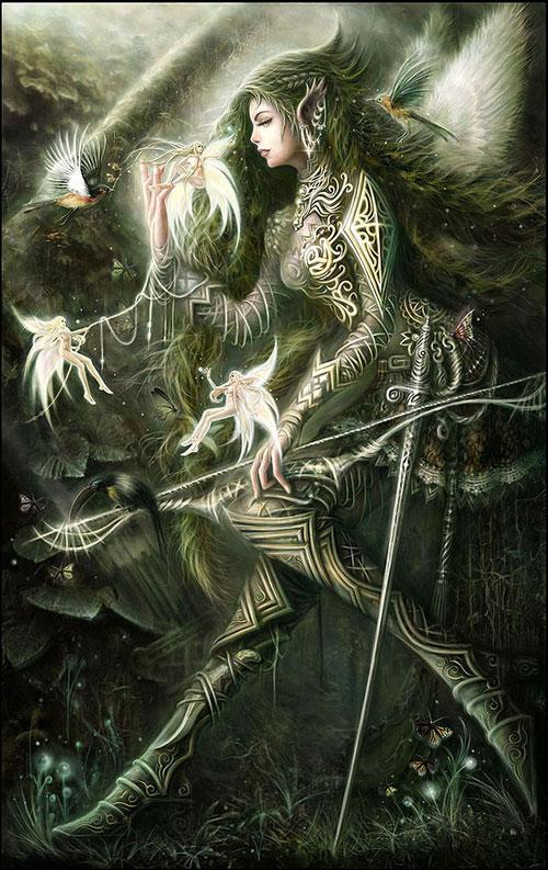 Angel Warrior drawing illustration