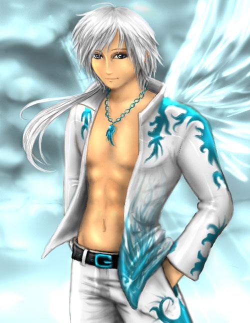 Modern Angel boy drawing illustration