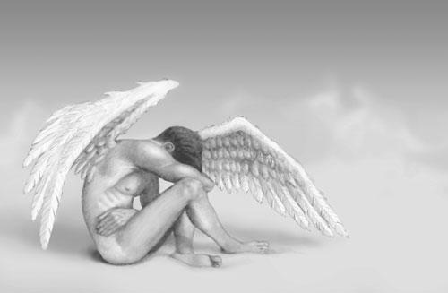 Angel Man drawing illustration