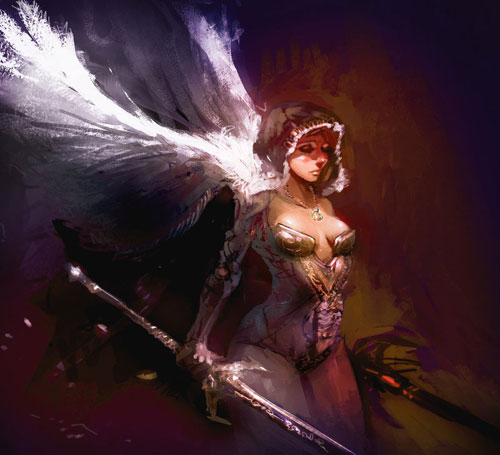 Angel speedpainting drawing illustration