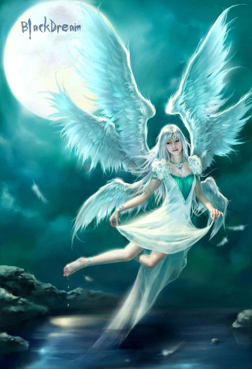 Flying Angel drawing illustration