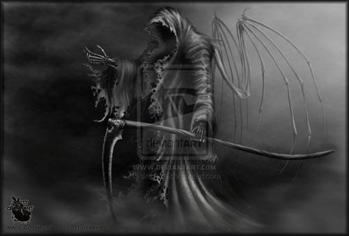 Angel of Death AKA Grim Reaper drawing illustration