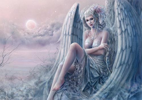 Angel of Ice drawing illustration