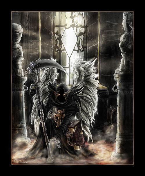 Angel of death drawing illustration