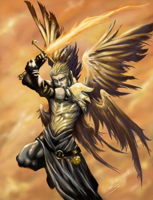 Archangel Michael drawing illustration