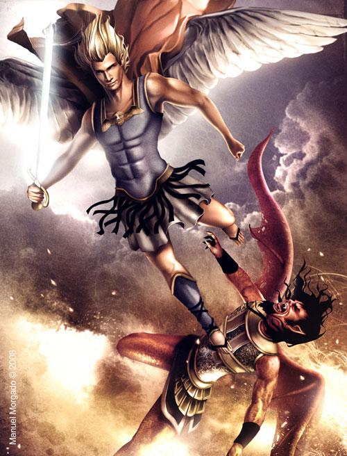 Archangel Michael 2 drawing illustration