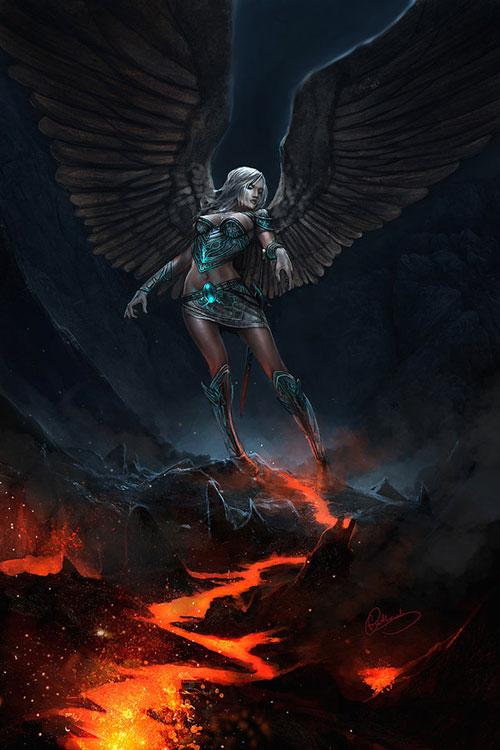 Archangel drawing illustration