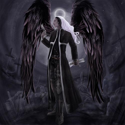 Azrael: Angel of Death drawing illustration