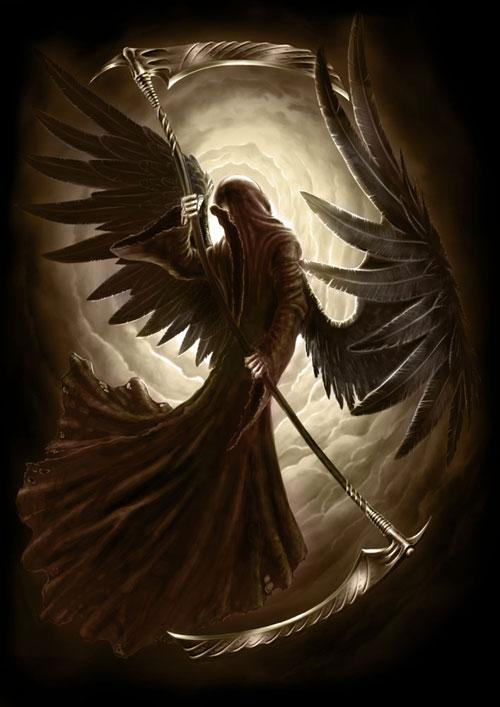 Black Angel drawing illustration