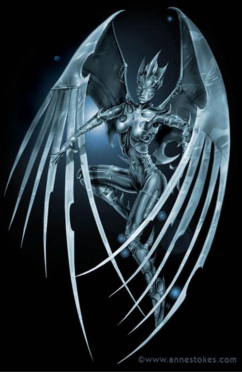 Cyber Angel drawing illustration