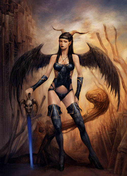 Dark Angel - Finished drawing illustration