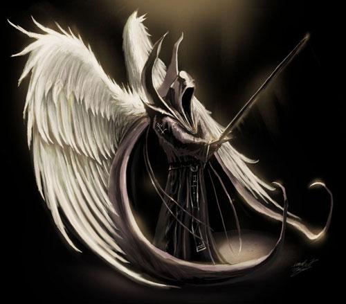 Dark Angel drawing illustration