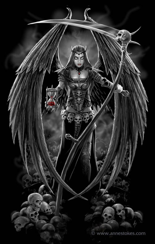 Dark Angel version 2 drawing illustration