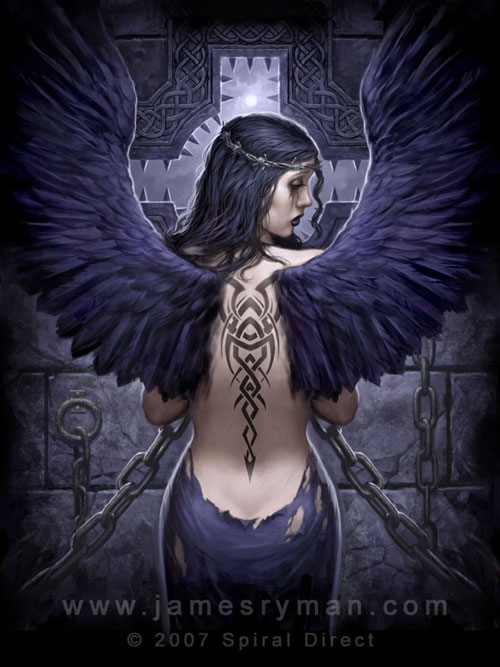 Goth Angel drawing illustration