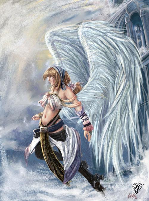 Jo's tribal angel drawing illustration