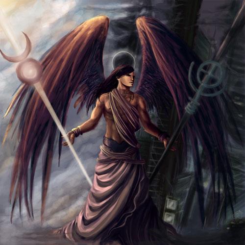 Raziel: Angel of Mystery drawing illustration