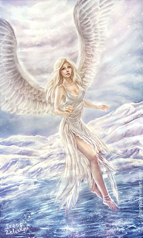 angel of light drawing illustration