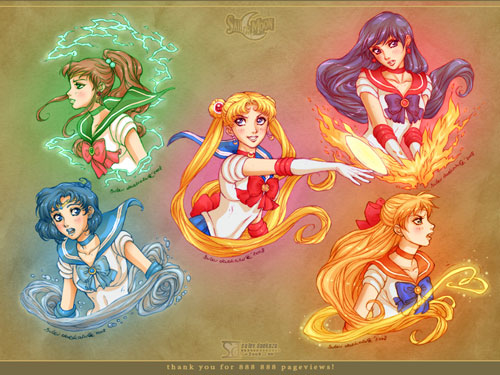 Sailor Moon Gold anime wallpaper