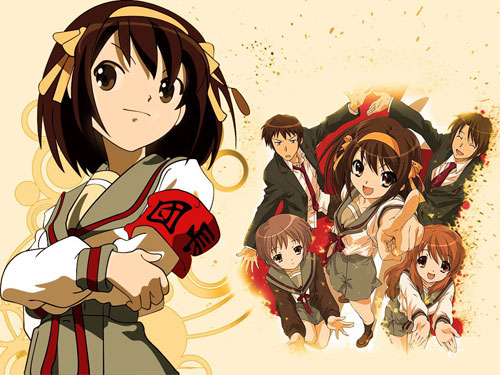 Haruhi and her friends anime wallpaper