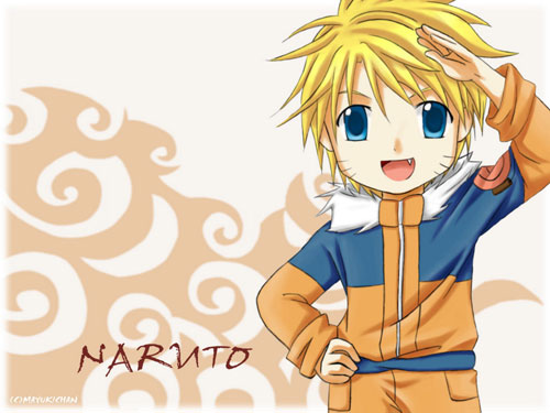 naruto - clouds and chibis wallpaper