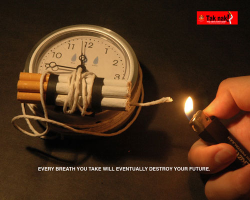 Anti smoking campaign Print Advertisement