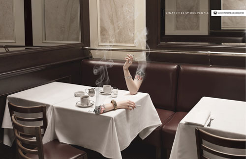 Cigarettes smoke people Print Advertisement