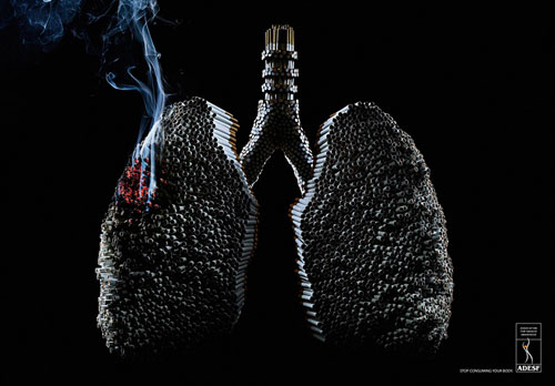 ADESF: Lungs Print Advertisement