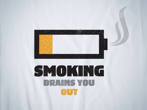 Smoking Drains You Out Print Advertisement