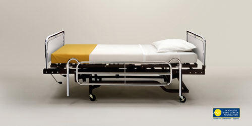 The Roy Castle Lung Cancer Foundation: Deathbed Print Advertisement