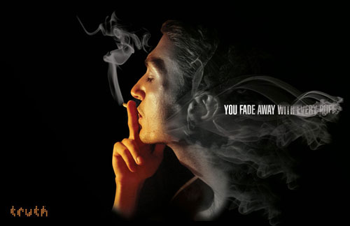 Truth: You fade away with every puff Print Advertisement
