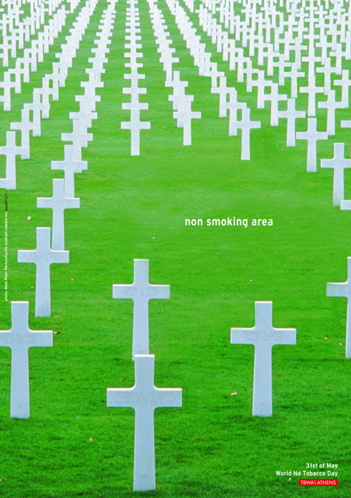 Non Smoking Area Print Advertisement
