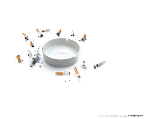 Smoking can kill your eyesight first Print Advertisement