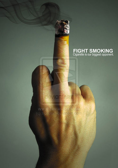 FIGHT SMOKING Print Advertisement