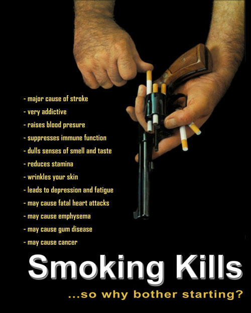 Smoking kills ad